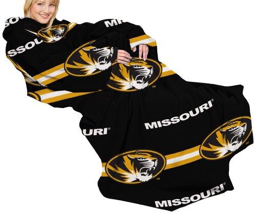 Designs Mit Snuggies (NCAA Missouri Tigers gemütlichen Überwurf Decke mit Ärmeln, streifen design)
