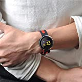 Jasnyfall Fitness Tracker Activity Tracker Q8 Pro 0.95 Inch OLED Bluetooth Smart Watch IP68 Waterproof Tracker Smartwatch Color:Red