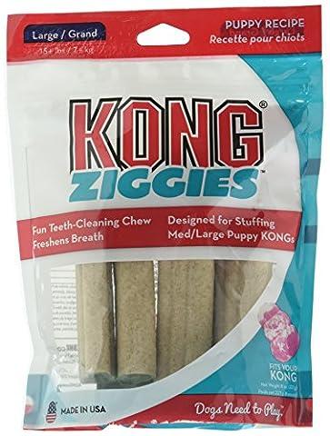 KONG Puppy Stuff'N Ziggies LARGE Dog Treat 8-Ounce 6-Pack (XZ41)