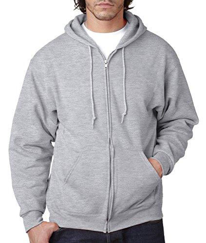 Jerzees-NuBlend Full Zip Hooded, Grau, 993 - Jerzees Sweatshirt Winter