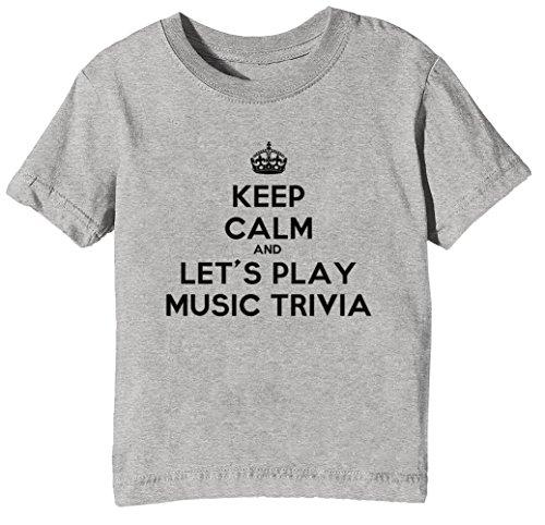 lay Music Trivia Kinder Unisex Jungen Mädchen T-Shirt Rundhals Grau Kurzarm Größe XL Kids Boys Girls Grey X-Large Size XL ()