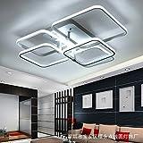 ZQ@QXEinfache, moderne, Wohnzimmer Lampe, Multi Layer Kreativität, Stufenlose Dimmung, LED Deckenleuchte, 5 Leiter