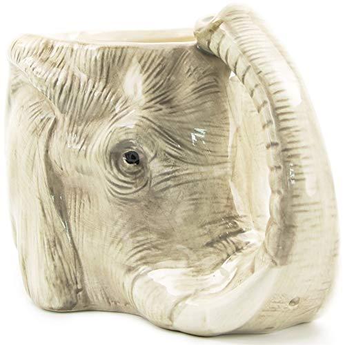 SJDY Taza de café 1 Pieza Taza de café de Animales de la Vida Silvestre Elefante Salvaje Aventura Taza de Elefante 3D Taza de Elefante de cerámica Creativa Taza de Oficina Adorable