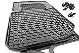 kh Teile 16110 Gummimatten Original Qualität Fußmatten 4-teilig schwarz