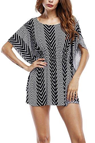 Donna Summer Disegno Geometrico In Tunica A Maniche Corte Informale Black