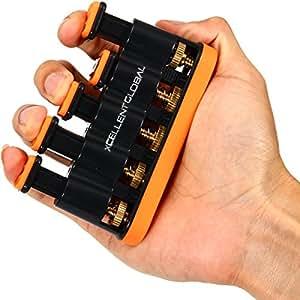 Xcellent Global Finger Exerciser Muscleur de main et doigts Bon entrainement pour augmenter la force des mains, des doigts,et du poignet. Exercices d'assouplissement pour guitare,, piano golf, tennis, et toute thérapie physique M-SP025