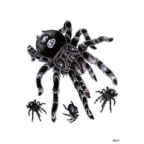 lihaohao Große Spinne Schlange Arm Ärmel Tattoos Für Männer Skorpion Eule Totem Gefälschte Bein Abdeckung Temporäre Tätowierung Aufkleber 15X21 cm 4 Stück