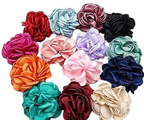 Haarschmuck Kopfschmuck Haarblume Blumen Haarspange Damen Accessoires Flower Blüten mit Sicherheitsnadeln (fruit green)