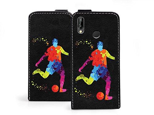 etuo Handyhülle für Huawei P20 Lite - Hülle Flip Fantastic - Fußballer - Handyhülle Schutzhülle Etui Case Cover Tasche für Handy