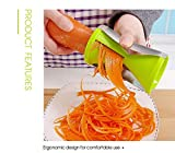 XelparucOutdoor Gemüsehobel Spiralschneider Küchenwerkzeug, zufällige Farbe - 2