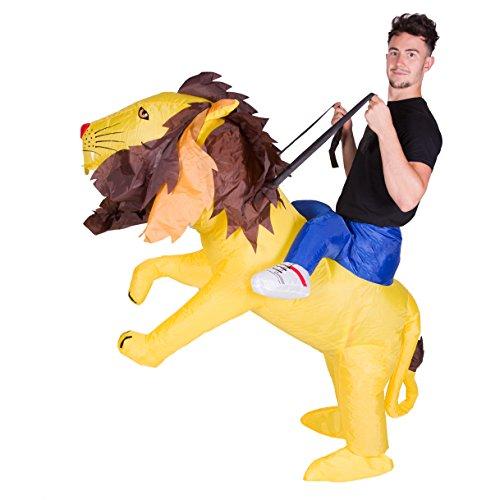 Imagen de disfraz de león gato safari hinchable para adultos