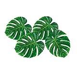 4 Palmenblätter Hawaii Deko grün Palmen Dekoration Südsee Partydeko