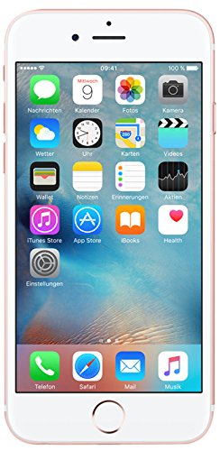 Apple iPhone 6s Smartphone (11,9 cm (4,7 Zoll) Display, 16GB interner Speicher, IOS) rosegold