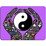 Yin Yang-Gebet Mousepad - Nicht Beleg-Mausunterlage