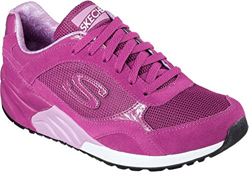 Skechers Damen Sneakers OG 95 Great Heights Schwarz Fuchsia