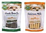 Basil Calcium Milk & Fresh Breath Dental Dog Chew Treat