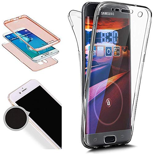 Nadoli 360 Grad Handyhülle für Galaxy A3 2016,Transparent Full-Body Weich Flexibel Einfarbig Farbe Durchsichtig Schutzhülle für Samsung Galaxy A3 2016,Transparent