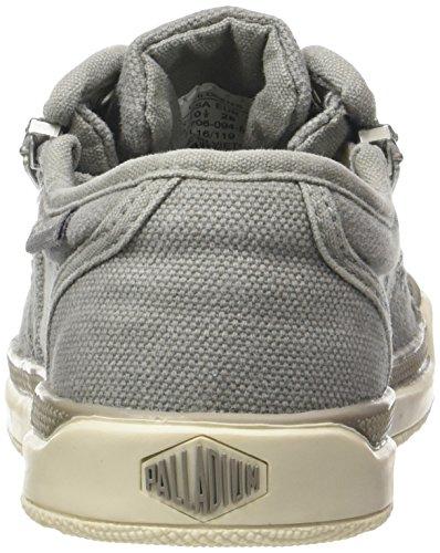 Palladium Pallarue Zip Cvs, Sneakers Basses Mixte Enfant Gris (Elephant Skin/marshmallow)