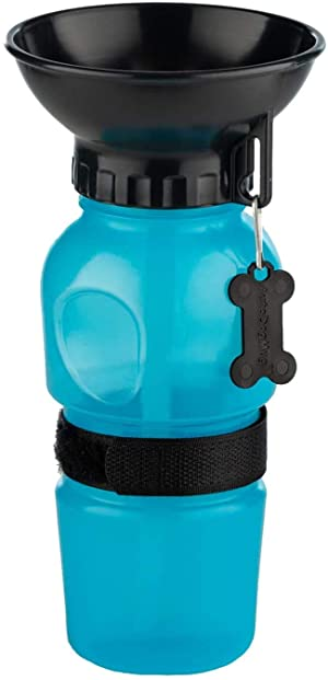 Puppy Tales Portable Dog Drinking Bottle with Water Cup for Travel Walking Outdoor Feed (Colour May Vary)