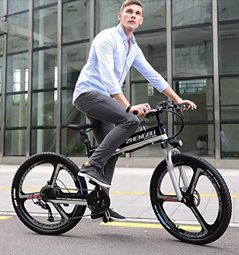 MYYDD Elektrisches Mountainbike, 26 Zoll faltendes E-Bike mit superleichter Magnesiumlegierung 48V 400W Citybike-Pendler-Fahrrad (entfernbare Lithium-Batterie)