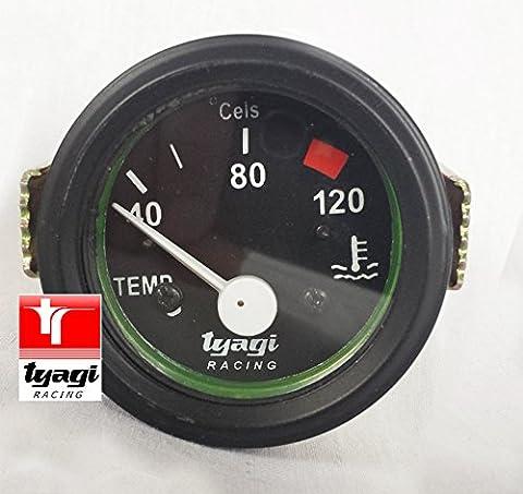Water Temperature Gauge 40-120°C Electrical Black Dial 52mm Diameter 12V