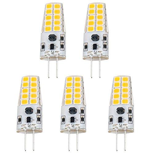 Luxvista 3W G4 LED Glühlampe Kühlweiß 6000K AC / DC 12V vergleichbar mit 20W-25W Halogenbirne (5-Stück) -