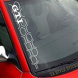 GTI Aufkleber WABEN Frontscheibenaufkleber 50cm GOLF GTI LOOK / STYLE