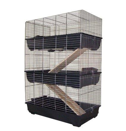 3 Stöckiger Nagerkäfig Kaninchenkäfig 100cm für Kaninchen oder Meeris