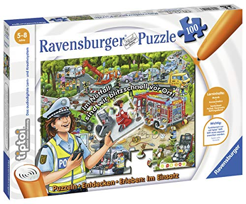 Ravensburger tiptoi 00554 - Puzzle: Im Einsatz, 100 Teile