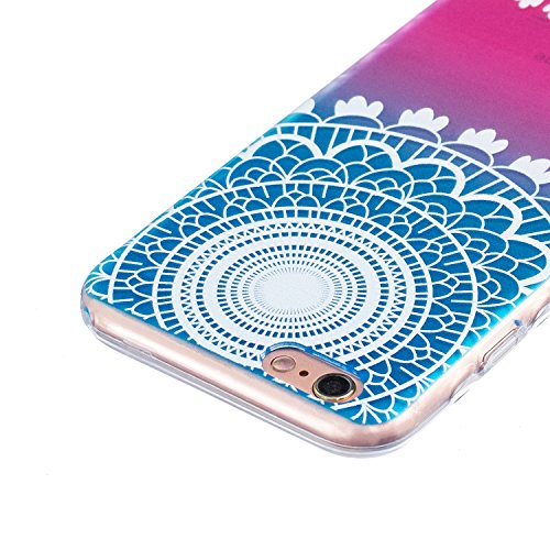 Coque iPhone SE / 5 / 5S, SpiritSun Etui Coque TPU Slim Bumper pour Apple iPhone SE / 5 / 5S Souple Housse de Protection Flexible Soft Case Cas Couverture Anti Choc Mince Légère Transparente Silicone  Campanule