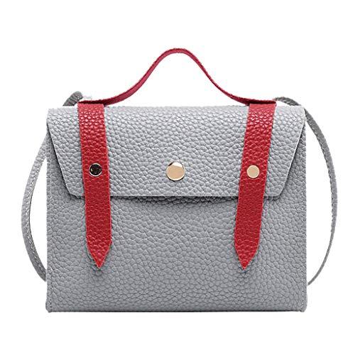 Vovotrade  Moda Donna Semplice Hasp Colorblock Borse a Tracolla Messenger Bag Lady Contrast Leather Shoulder Party Crossbody Purse