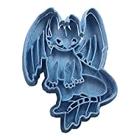 Cuticuter CGDESDENTAOCUERPO Toothless Body How to Train Your Dragon Cookie Cutter, Blue, PLA