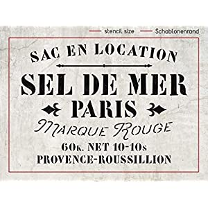 Schablone Sel de Mer Paris – französischer shabby chic