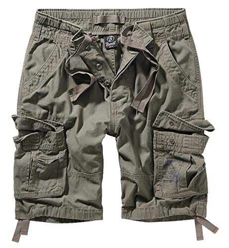 Grün Soldat Kostüm - Brandit Pure Vintage Shorts, Oliv XXL