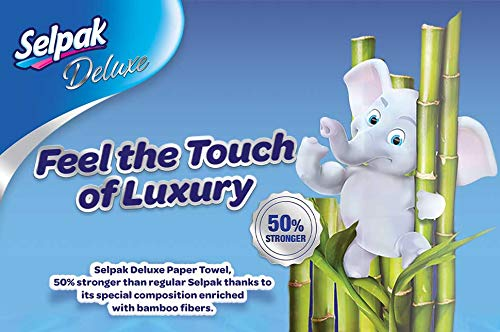 Selpak Deluxe Bamboo Enriched Kitchen Towel Paper Tissue 2 Rolls/Pack
