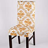 Decdeal Stretch Chair Cover Removable Elastic Chair Protector for Hotel Dining Room Office
