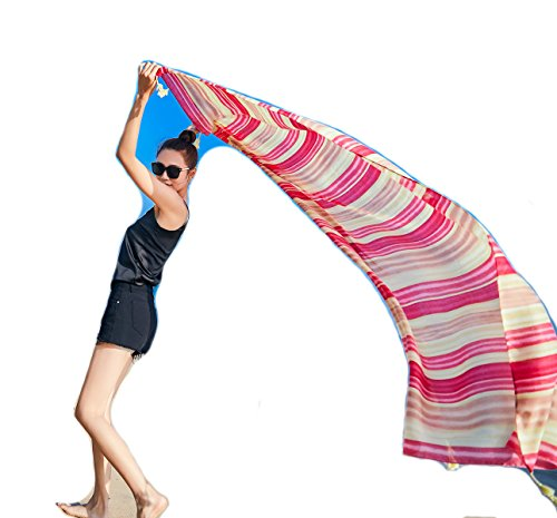 Felix & SiLK Damen Mädchen Mehrfarbig Extra Groß Strandkleider Sarong Pareo Schals Wrap Stolen Umschlagtücher Quasten UV-Sonnenschutz Feiertage Strand