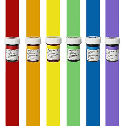 Cake Decorating Gel (Wilton Icing Colour Gel Paste Cupcake Decorating Rainbow Cake Colours Set Kit)