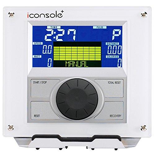 AsVIVA E2 Ellipsentrainer / Crosstrainer mit 20kg Schwungmasse, Magnetbremse und Multifunktionscomputer mit 6 Zoll Display, 16 Level, 12 Automatikprogramme und Pulsmessung - 4