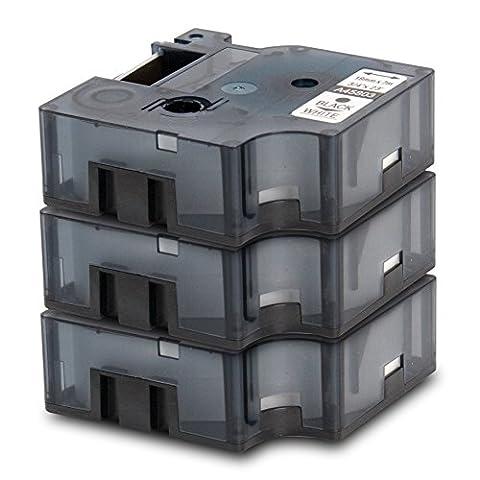 3er Set - Schriftband kompatibel zu DYMO D1-Band / 45803 | schwarz auf weiß / 19mm x 7m | geeignet für DYMO LabelPOINT & LabelManager LM300 / LM350 / LM400 / LM260P / LM350D / LM360D / LM420P / LM450 / LP350 / LP150 / LP250 / LP300 / LP350 / PC / PC2 / PnP / PnP WiFi / LW400 Duo / LW450 Duo