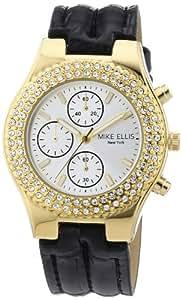 Mike Ellis New York Damen-Armbanduhr XS Analog Quarz Kunstleder L2618AGU