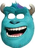 Monster Uni – Sulley-Masken, 6 Stück, erschrecken wie Sully, 18x25,5cm, mit Bändchen