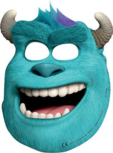 Monster Uni - Sulley-Masken, 6 Stück, erschrecken wie Sully, 18x25,5cm, mit Bändchen (Erwachsene Sully Maske)
