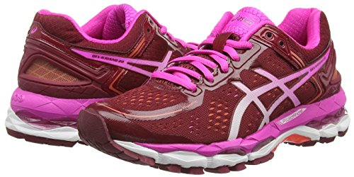 Asics Gel-kayano 22, Chaussures de Running Entrainement Femme Rouge (Deep Ruby/White/Pink Glow 2601)