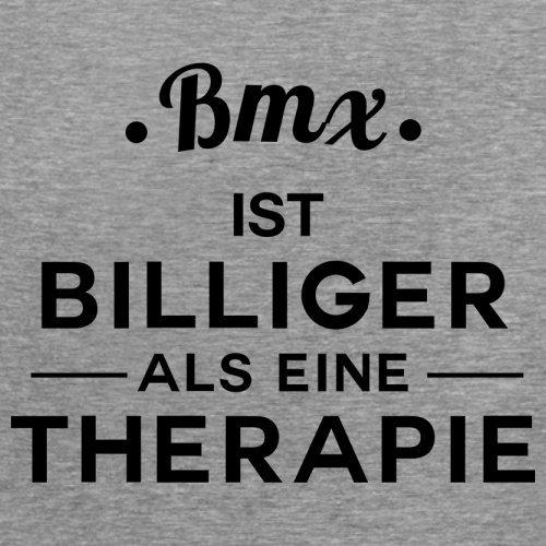 Bmx ist billiger als eine Therapie - Damen T-Shirt - 14 Farben Sportlich Grau