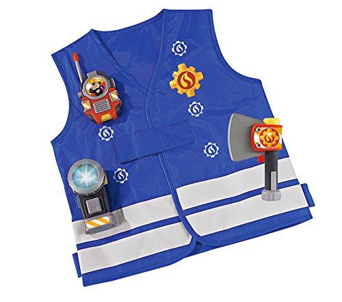 feuerwehrmann sam kostuem kinder Simba 109250745 - Feuerwehrmann Sam Einsatzset in blau