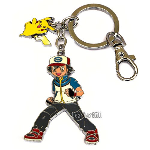 pokemon-pikachu-and-ash-keychain-silver