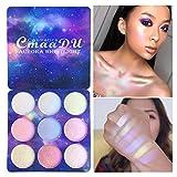 wonCacrostrans 9 colori glitter eyeshadow palette in polvere evidenziatore viso trucco correttore