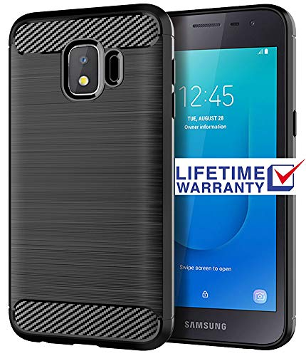 Galaxy J2 Core Case, Samsung J2 Core Case, Asmart Shock Absorption Case  Galaxy J2 Core Slim Carbon Fiber Cover Flexible TPU Protective Phone Case  for