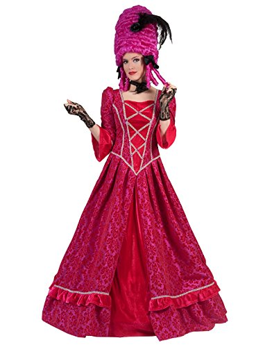Kostüm Marquise Jolanda Damen Rokoko Barock Gräfin Größe 40/42 Madame Kleid Renaissance pink Adel Karneval Fasching (Frau Renaissance Kostüme)